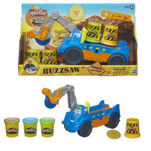 Play Doh Playdoh Diggin Rigs Buzzsaw Playset Includes 4 Pots Of Play Doh